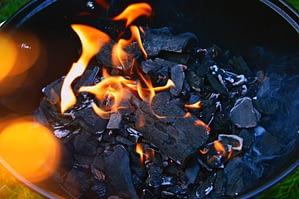 grill and coals